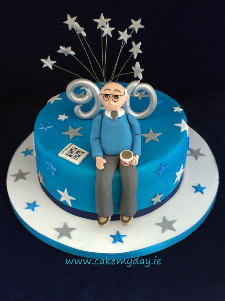 Male 90th Birthday Cake