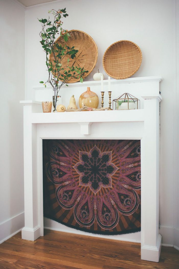 boho eclectic fall home tour fall mantelsmantel decormantlesbohemian - Decor For Mantels