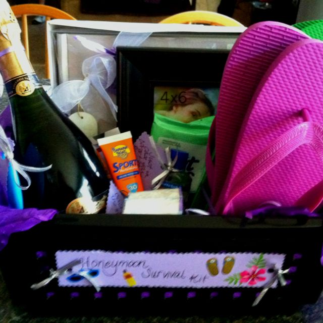 Wedding Honeymoon Ideas: Honeymoon Survival Kit That I Made For A Bridal Shower