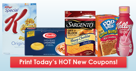 image relating to Barilla Printable Coupons referred to as Clean Printable Discount coupons: Kelloggs, Sargento, Barilla Excess
