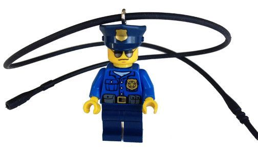 City Police Officer Minifigure Necklace