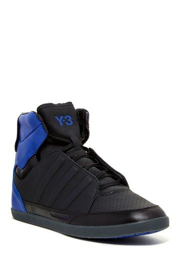 9bc28f18fced8 adidas Y-3 Honja High Top  Black Blue