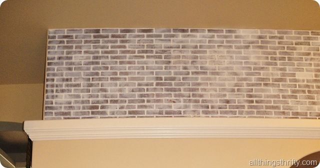 Tutorial How To Paint Brick To Make It Look Old Faux Brick Panels Faux Brick Walls Painted Brick