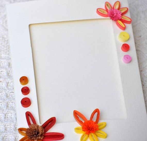 Tarjeta de papel Quilling tarjeta foto marco por PaperSimplicity ...