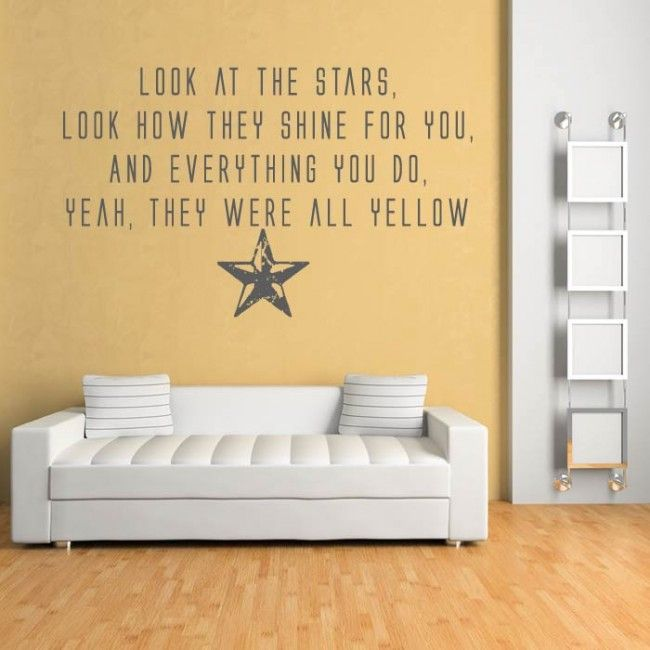Yellow Wall Sticker Coldplay Wall Art icon UK | Tater | Pinterest ...
