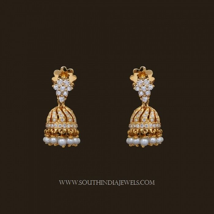 Gold Jhumka Designs with Weight and Price | Gold, Indian jewelry ...