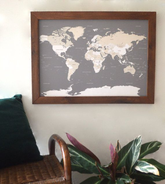 World map push pin travel map world map wedding framed world small handcrafted framed modern world map only by degnodinota 12500 gumiabroncs Gallery