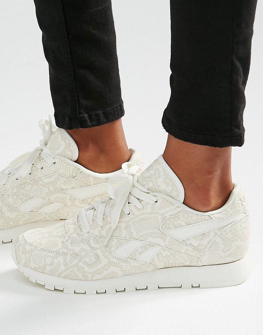 Reebok Classic Sneakers In Snake Print Leather   Reebok