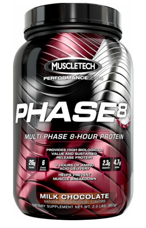 Increase your athletic performance and reduce recovery time with MuscleTech Phase 8 (Chocolate)