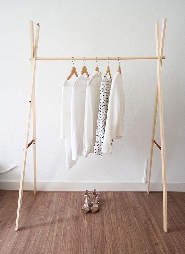 Bekend Houten kledingrek | Trellos - DIY Furniture, Wooden diy en Wooden HL13