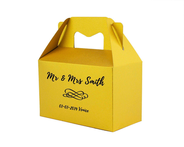 Personalised Picnic Gable Box Gift Boxes Ready Made Favor Boxes Bridesmaid Gift Box Bride Gift Box Christmas Present Groom Box Surprise Box Bridesmaid Gift Boxes Gable Boxes Christmas Box