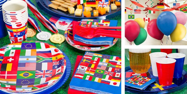Maybe for culture day partyafter studying many different for International party decor