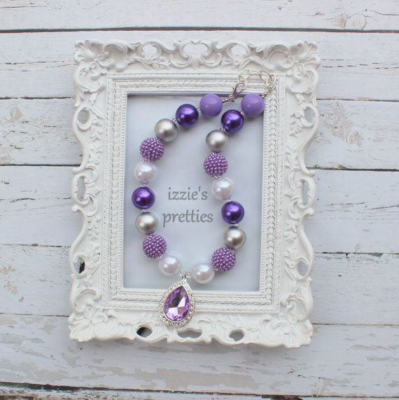 Sofia the First Inspired Chunky Necklace Purple by IzziesPretties