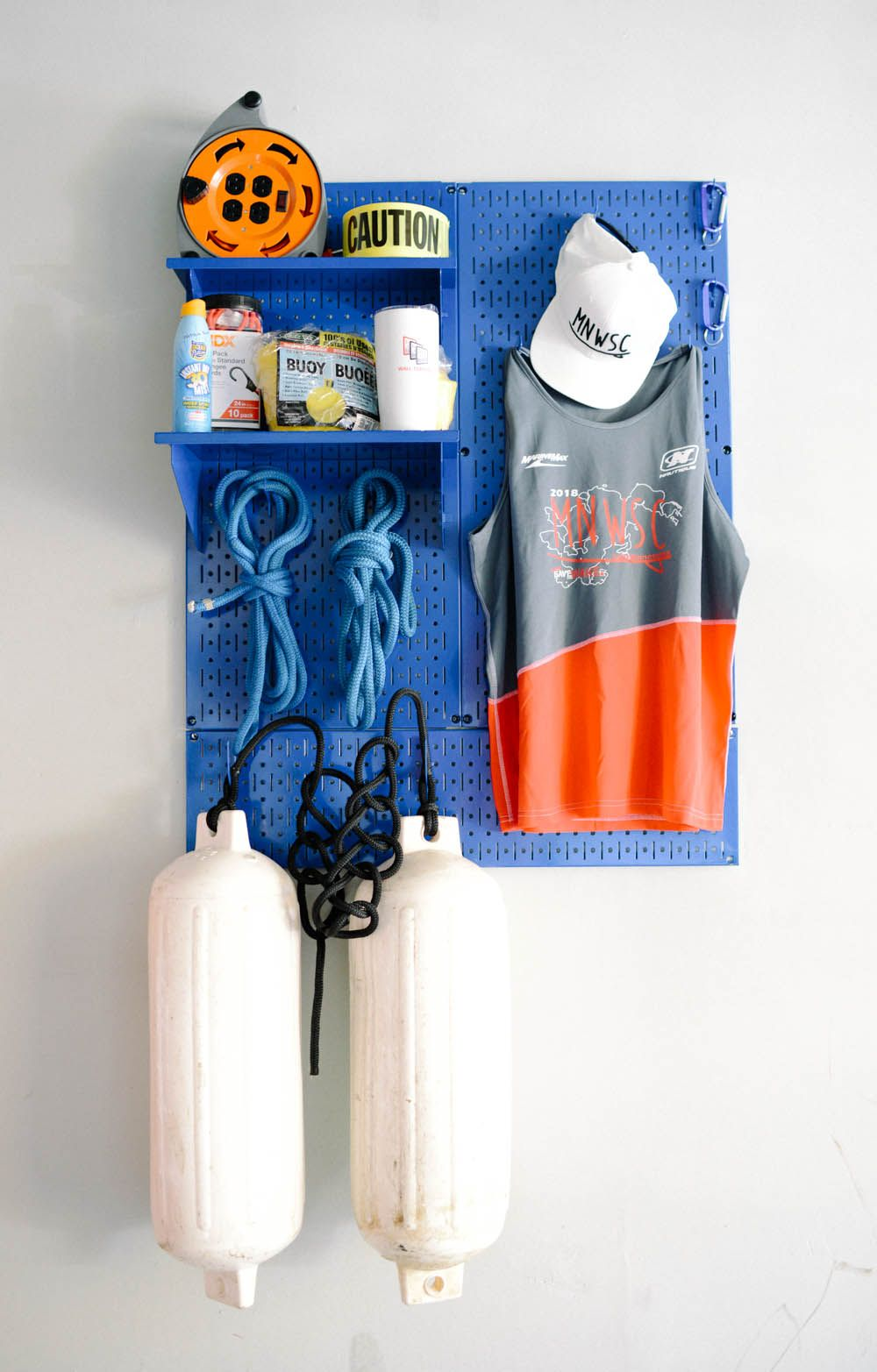 use wall control pegboard to store and organize ropes on wall control id=51480