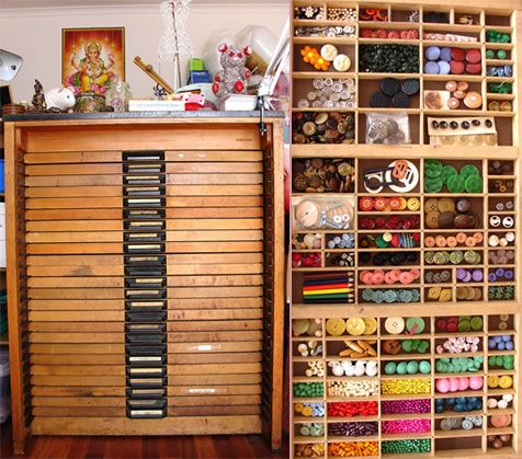 Type Tray Cabinet... want one! | buttons :) | Pinterest | Trays ...