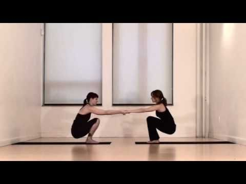partner yoga for friends or lovers  video good for hot