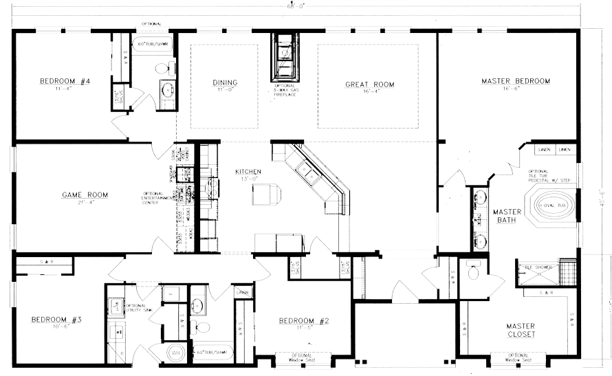 60 40 Floor Plans: I Like The Separate Mudroom