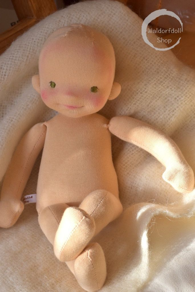 A little baby waldorf/art doll in progress by Waldorfdollshop #littledolls