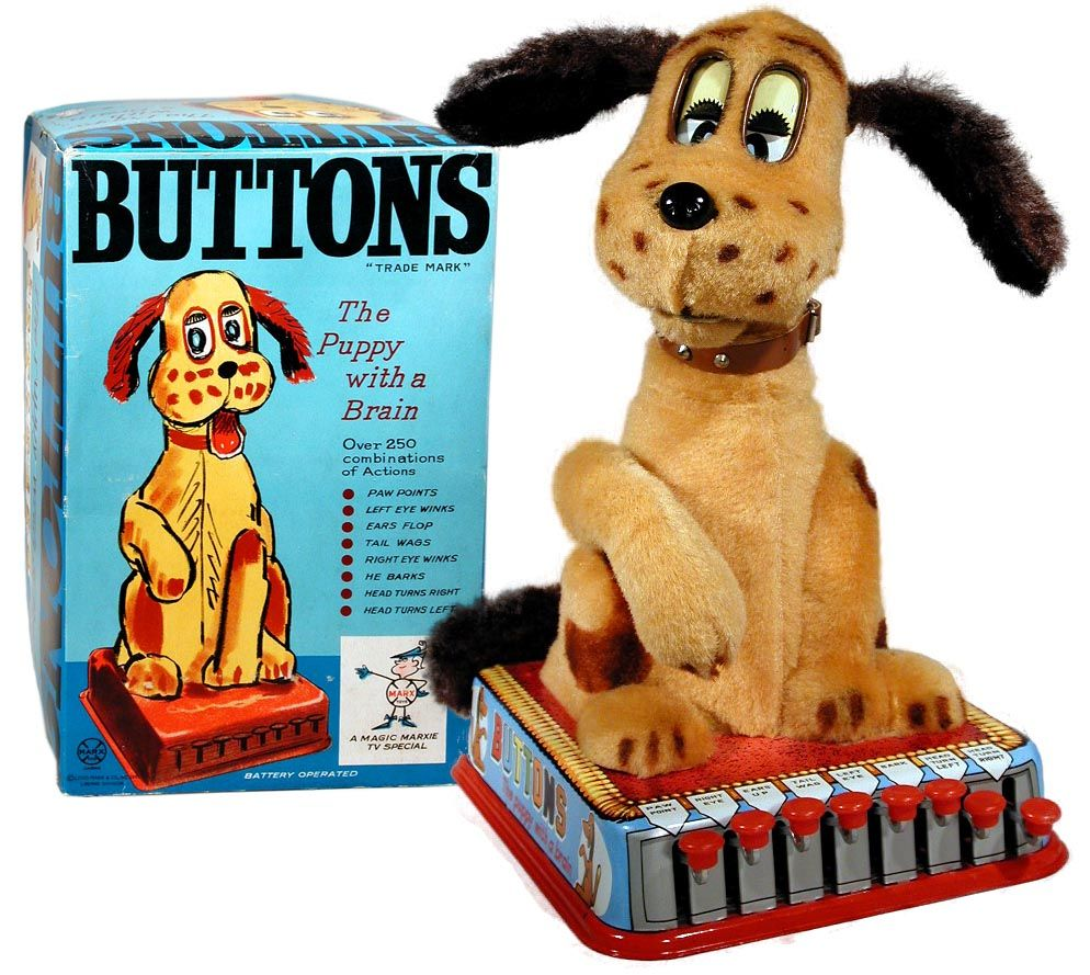 Marx Battery Operated Buttons The Puppy With A Brain Factory