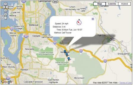 Google Map GPS Cell Phone Tracker Screenshot Các địa điểm để Ghé - Mobile tracker map