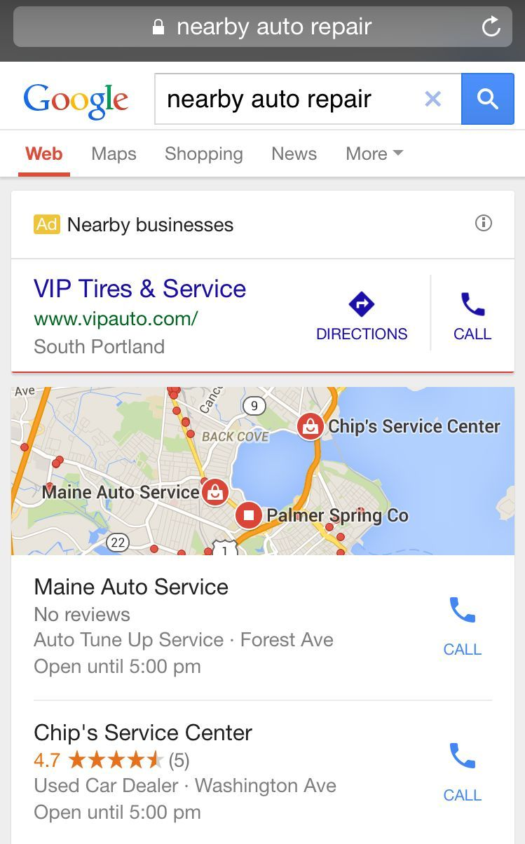 Google Adds Nearby Business Mobile Ad Format For Location