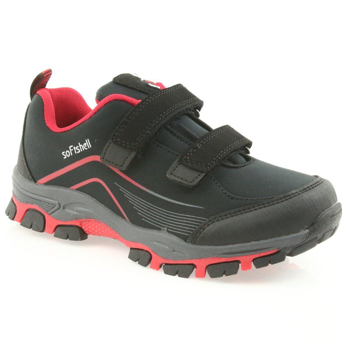 Adi Sportowe Buty Dzieciece Softshell American Club Wt09 19 Czarne Czerwone Kid Shoes Shoes Softshell