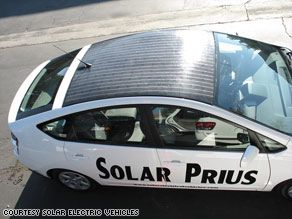 Prius Solar Roof >> Solar Electric Vehicles In California Makes A Roof Mounted