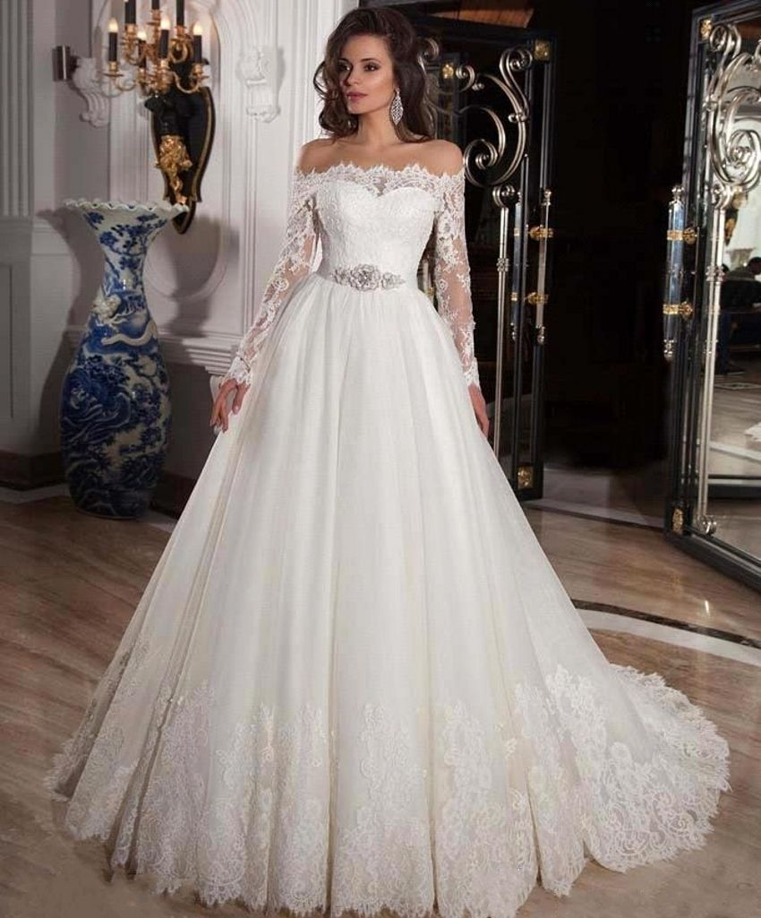 Vestido De Noiva Quality Directly From China Bridal Gown Suppliers Luxury Elegant White Tulle Wedding Dresses Liques Beading Off