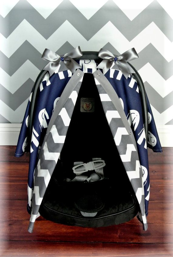 NEW ELEPHANTS carseat canopy car seat cover by JaydenandOlivia $59.99 & NEW** ELEPHANTS carseat canopy car seat cover grey NAVY blue ...