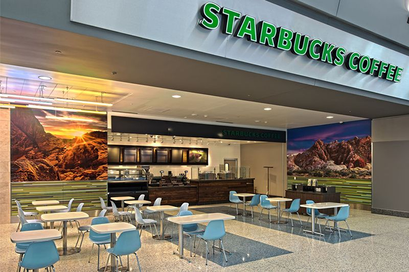 HMS Las Vegas International Airport Food Court T3 was completed in 2012 by Valerio Architects.