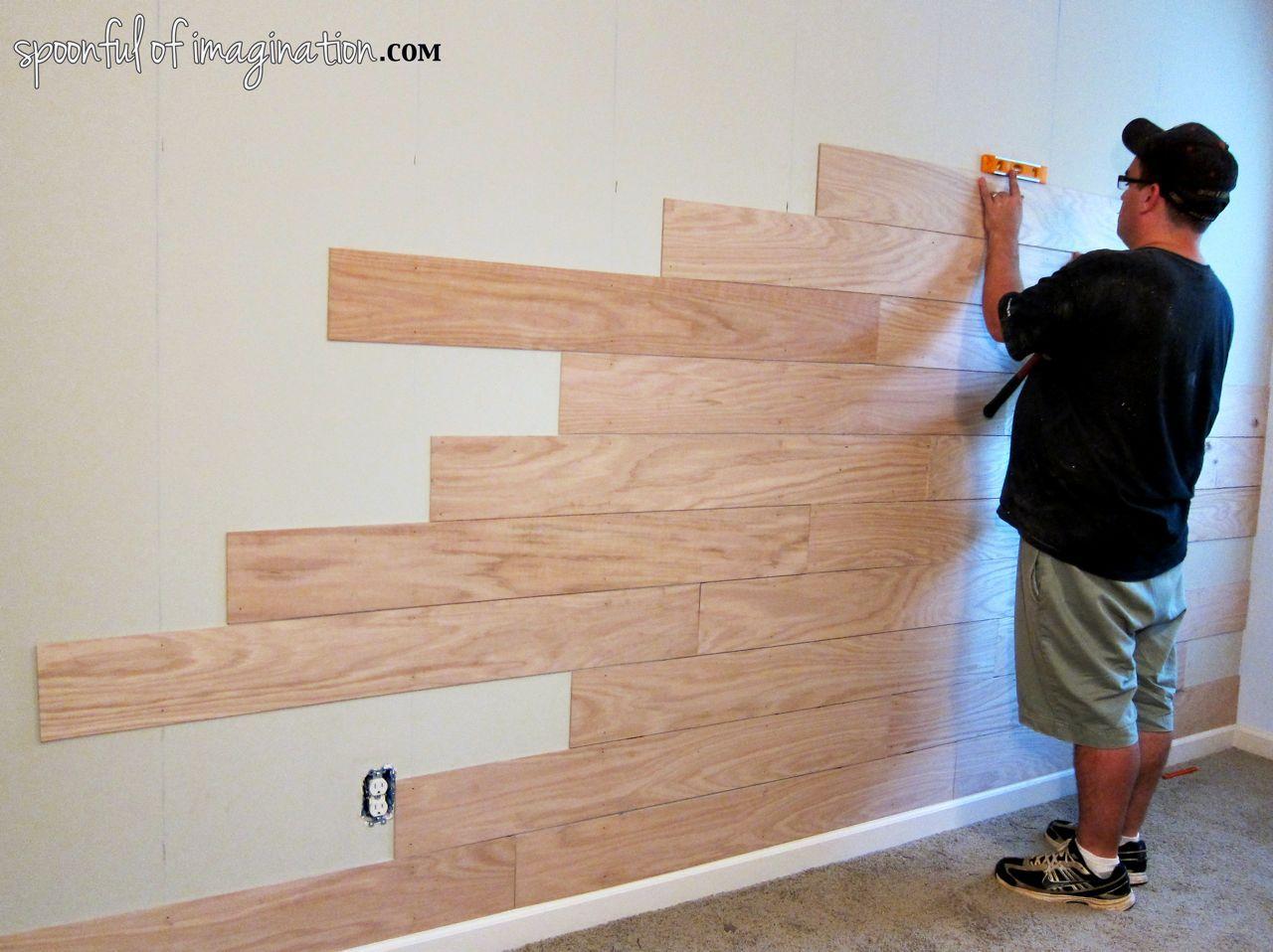 Diy Plank Wall Floor Tile Walls Wood Plank Walls
