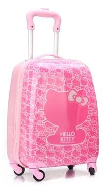 1840e65a4 HOT anime girl luggage child rolling suitcase hello kitty cartoon 16/18  inch students Travel trolley case children Boarding box