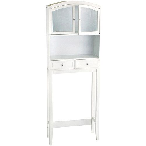 Arched Over the Toilet Space Saver, White - Walmart - $129.00 | Bath ...