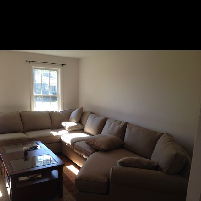 The improved living room with a new couch from #Jordan\'s Furniture ...