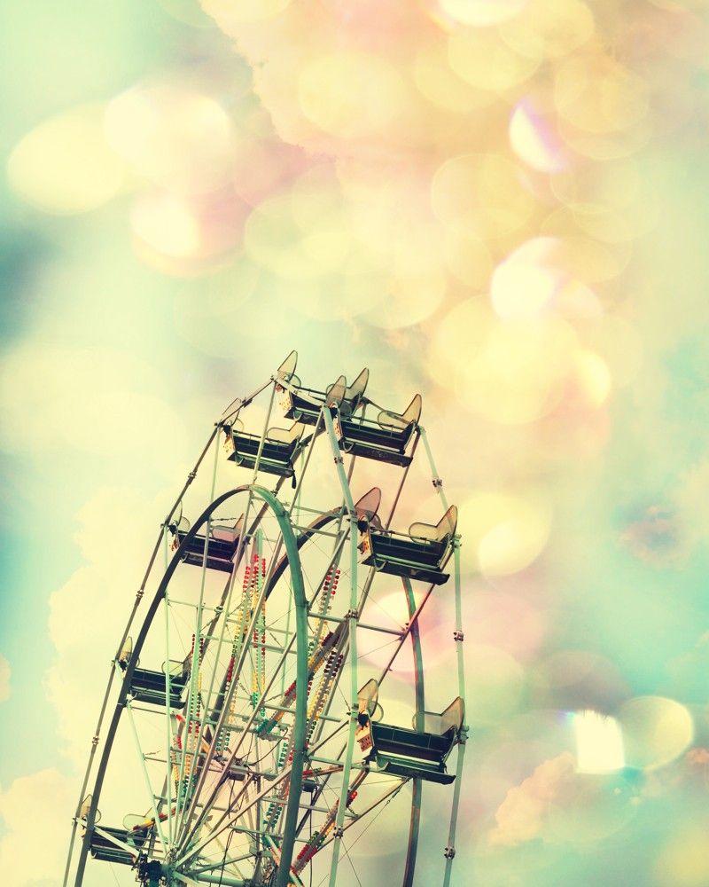 girl nursery art ferris wheel print carnival color photography Pink ...