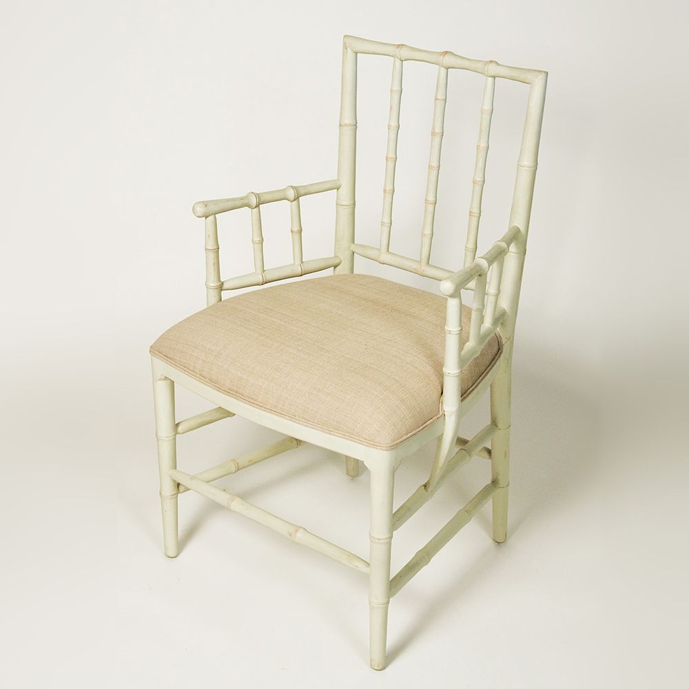 Faux Bamboo Dining Chair with Arms in Furniture Pinterest