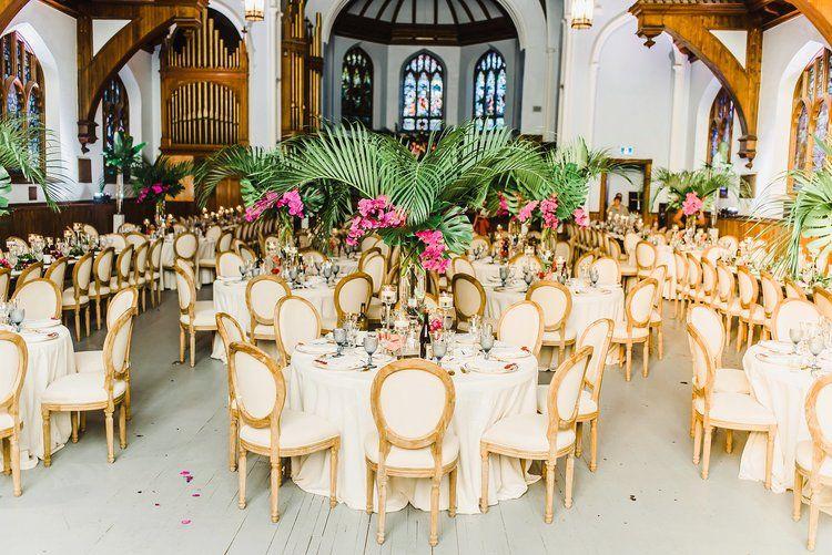 All Saints Event Centre Urban Ottawa Wedding Ann Lori Ryan Ali Batoul Photography Wedding Tropical Wedding Flowers Event Space Decor