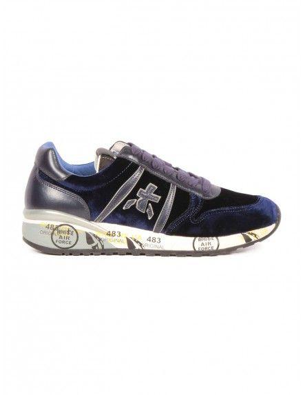 'DIANE 2633' sneakers in velvet - Blue Premiata White for Woman - serie. '