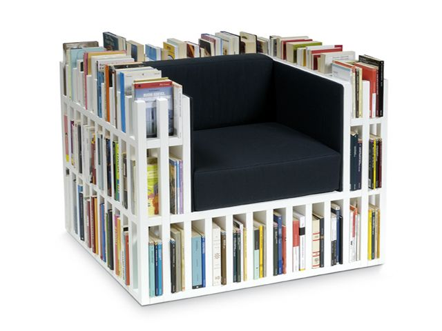 Book Chair Mod Home Pinterest Books - Bookchair combined with bookshelf