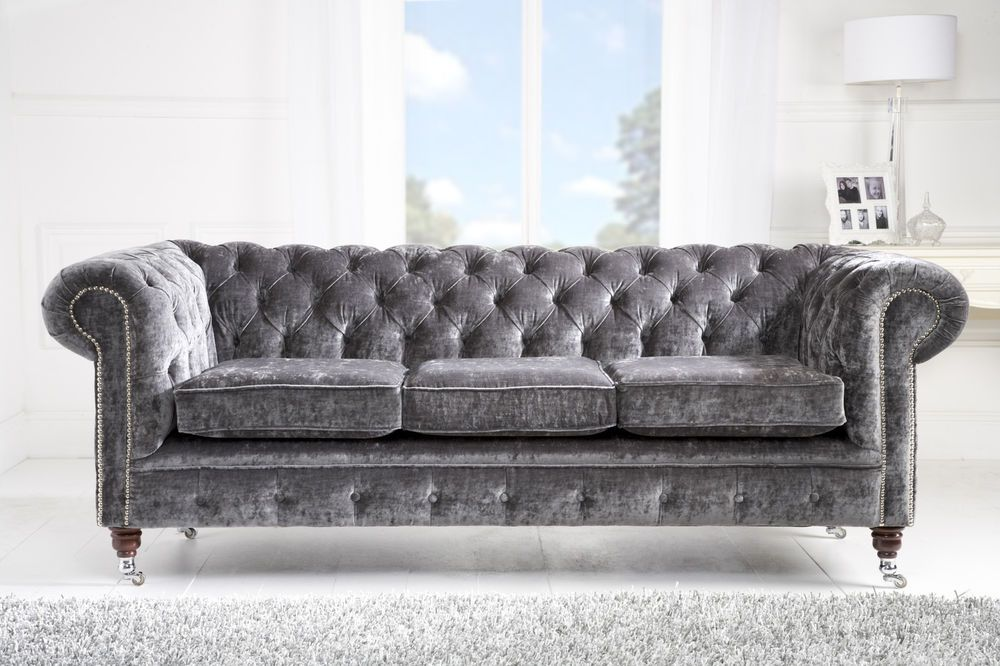With Its Unabashed Grandeur The Brittney Gray Living Room Brings Todays Dcor Back To Refinement Sumptuous Velvet In A Premium