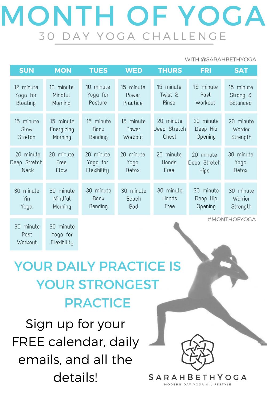 Month Of Yoga Challenge 30 Day Yoga Challenge 30 Day Yoga Yoga Challenge