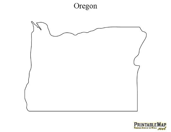 image about Printable Map of Oregon titled Pin upon printables.