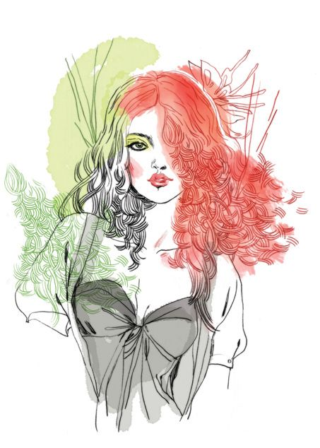 Flower Women by Marguerite Sauvage, via Behance