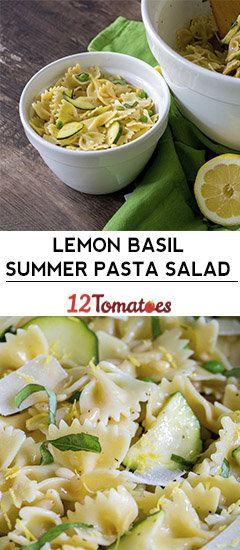 Lemon Basil Summer Pasta Salad #soupandsalad