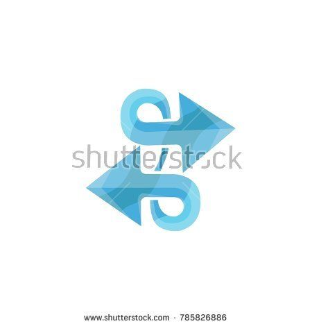 The Left And Right Arrows Logo Template Colorful Symbol Abstract