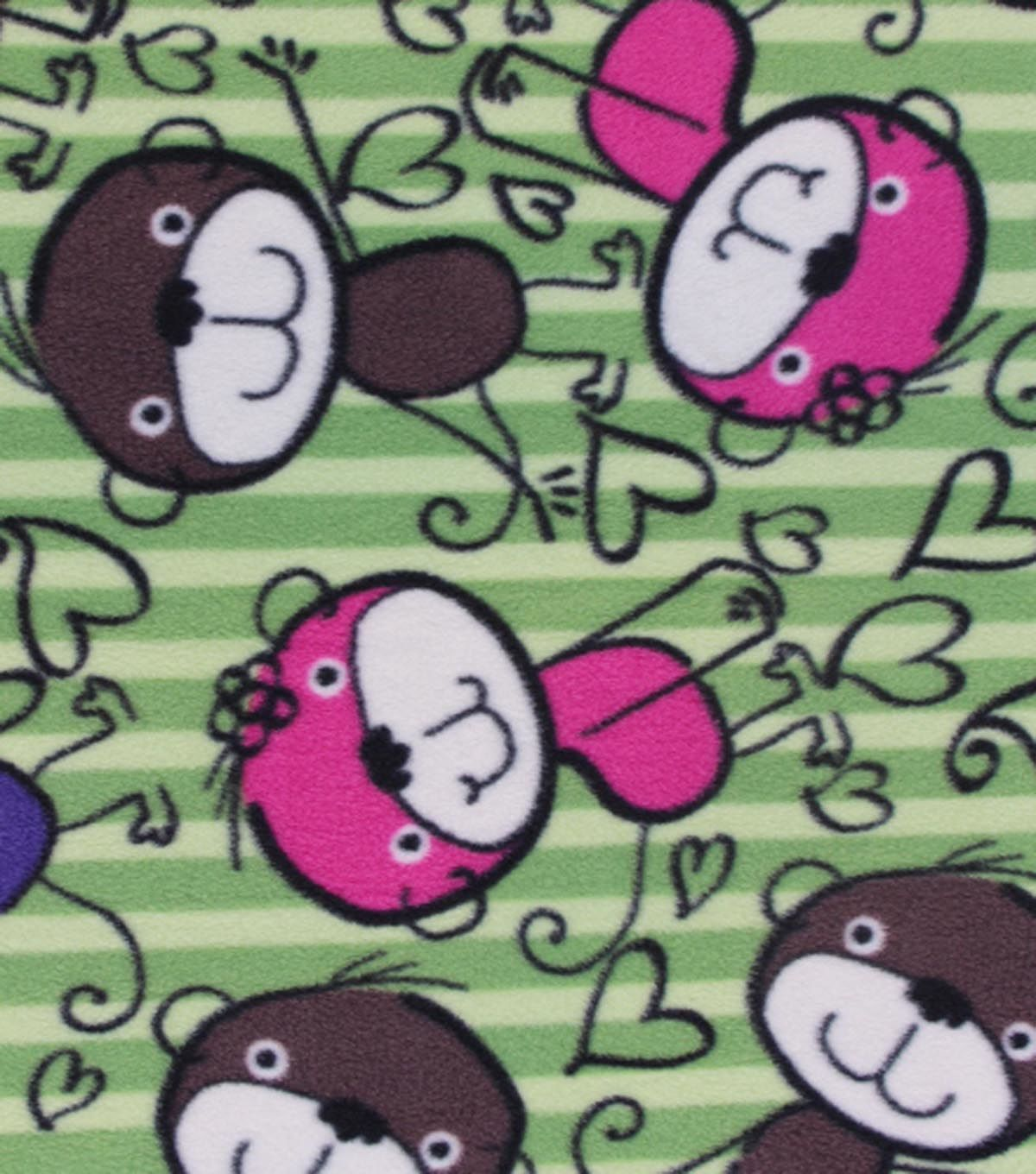Antipill fleece fabric marker monkey backgrounds and other