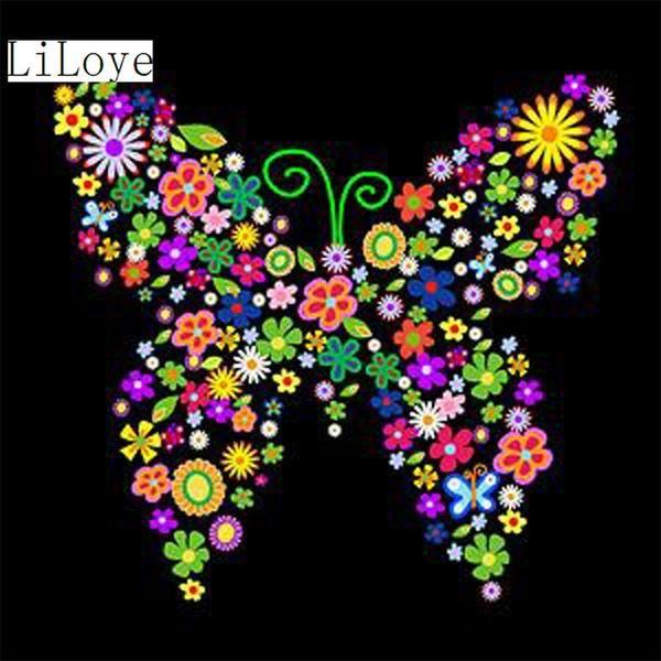 5D Diamond Painting Flower Butterfly Kit   mariposas y ...