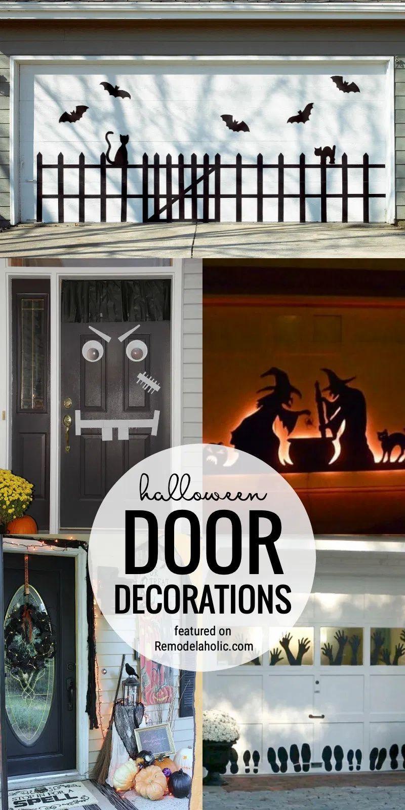 10 Genius Halloween Door Decor Ideas Tipsaholic Halloween Door Decorations Halloween Front Door Decorations Door Decorations