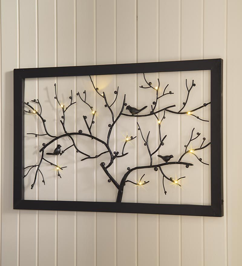 Our Lighted Bird And Branch Wall Art Will Make A Beautiful