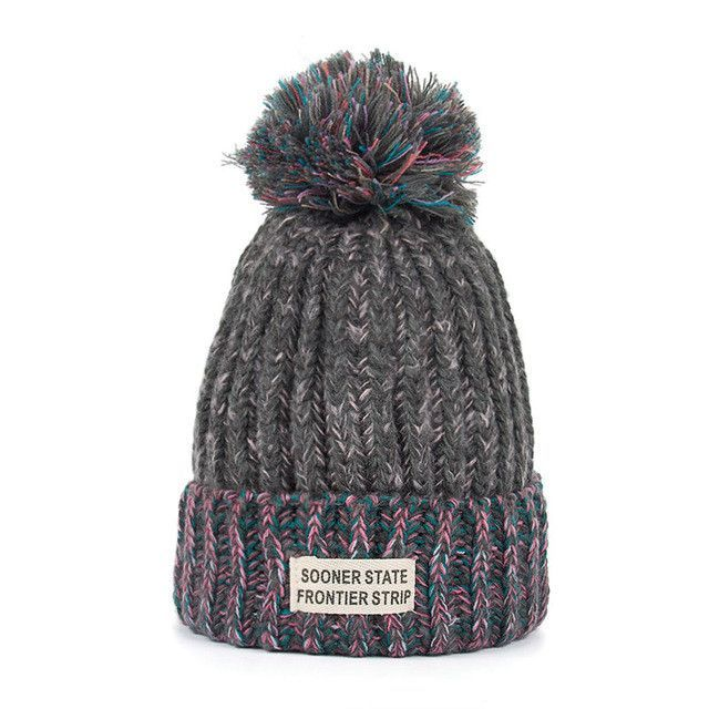 fdf247e5a86 Joymay Woman Fashion Winter Knitting Hats with pompom Beanies Cap W222